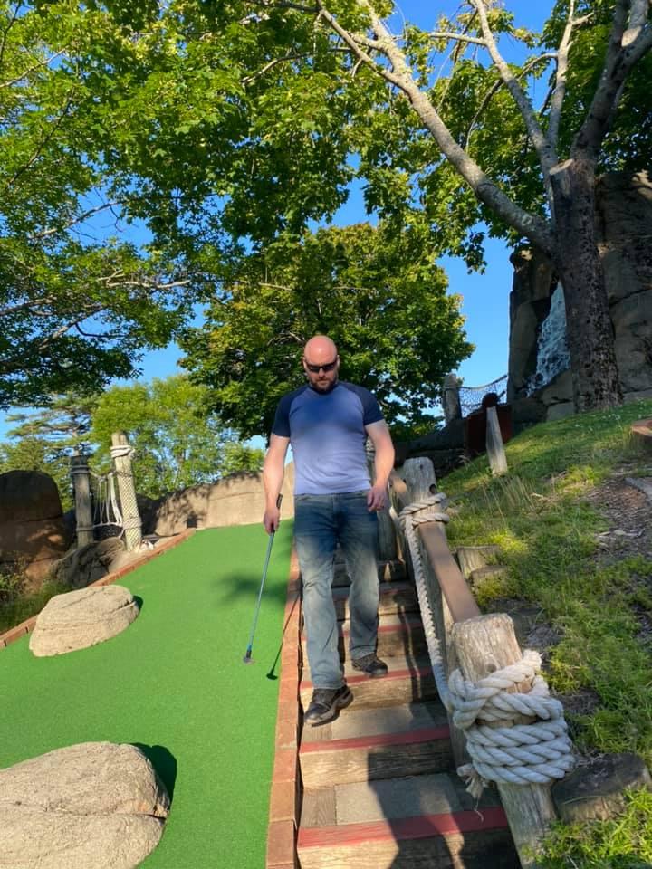 Seely Clark at Pirate's Cove Mini Golf